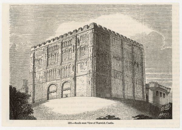 Norwich Castle, Norfolk: view from the south-west