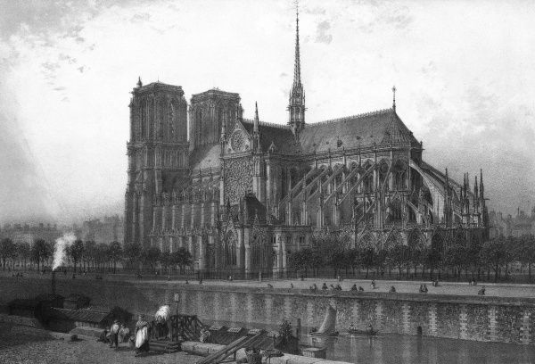Notre Dame Cathedral, Paris, France Date: 1861