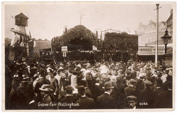 A scene of the crowd at the annual Nottingham Goose Fair