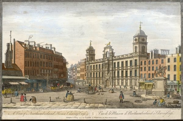 A view of Northumberland House and Charing Cross