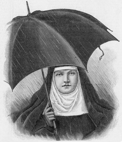 The nun and the brolly