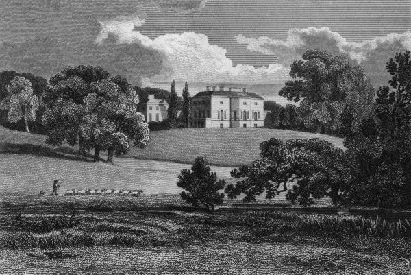 Distant view of Nuneham Courtenay, Oxfordshire, the seat of the Earl of Harcourt Date: 1811