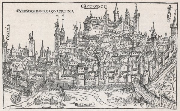 A general view of the city at the beginning of the 16th century