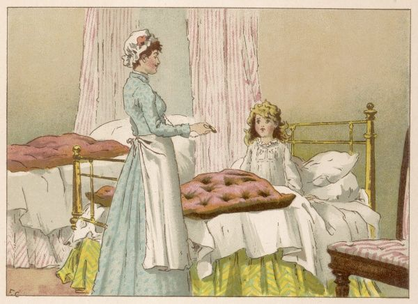 Margery is woken up by the nursemaid after dreaming about all her favourite nursery rhyme characters