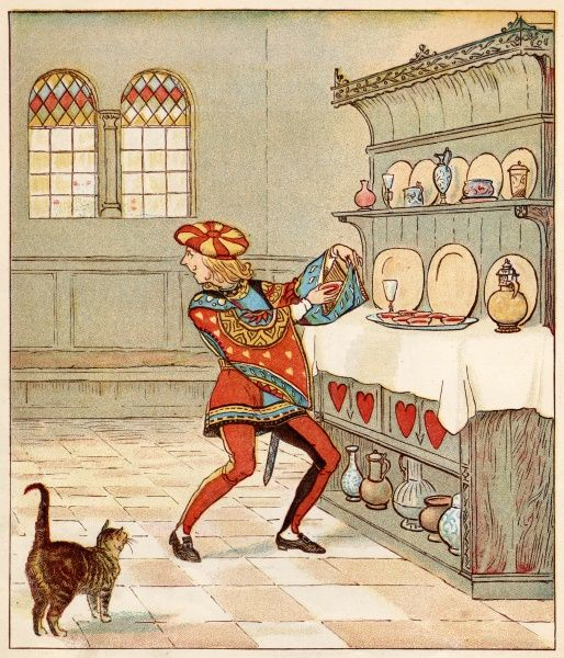 'The Knave of Hearts, he stole those tarts&#39