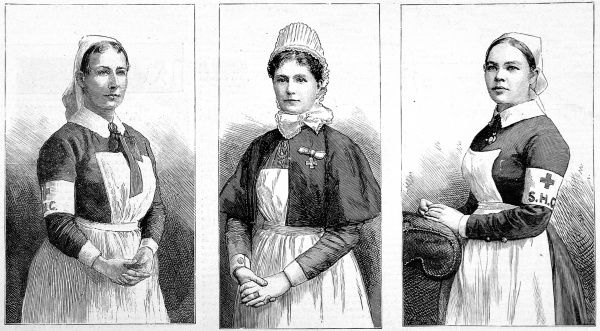 Nurses, from left, Sister Edith King, Sister Louisa Mackay and Sister Emma Durham were awarded the Royal Red Cross, by Queen Victoria for their exceptional service in the nursing profession. They all served with the British Army in South Africa