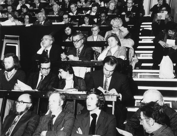 A conference of the National Union of Teachers (NUT). Secondary school section. Date: 1962