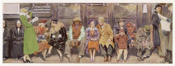 Typical passengers on the New York subway (1 of 3)