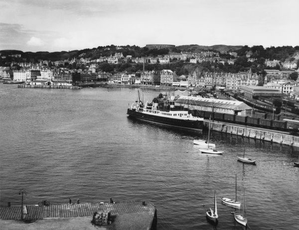 A general view of the harbour at Oban, Argyllshire, Scotland