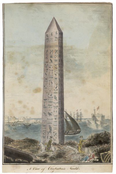 One of two obelisks from Alexandria, which were removed and shipped to London and New York as the eroneously monikered 'Cleopatra's Needles&#39