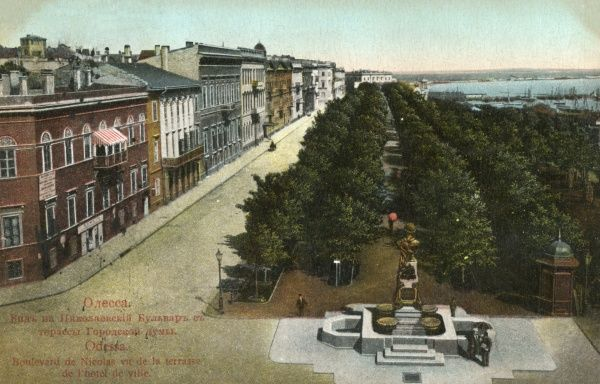 Nicolai Boulevard, near the City Hall and harbour. Date: 1910