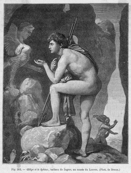 the riddle of the sphinx as a metaphor for oedipus life and the causes of his discovery in sophocles Bring about his tragic discovery oedipus gained the rule of thebes by answering the riddle of the sphinx sophocles used the riddle of the sphinx as a metaphor.