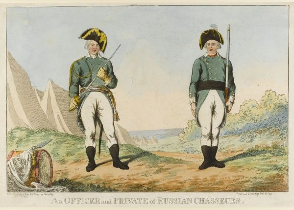 An Officer and Private of Russian Grenadiers