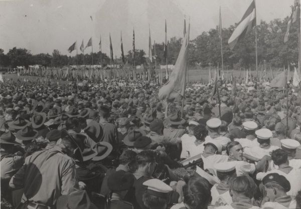 The Scene at the official opening of Granso Lagret - Sweden circa 1940s