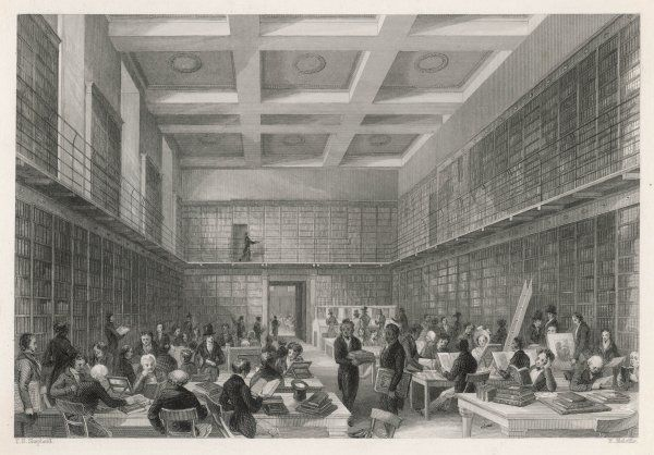 The old Reading Room of the British Museum, replaced in the 1860s by the great domed Reading Room