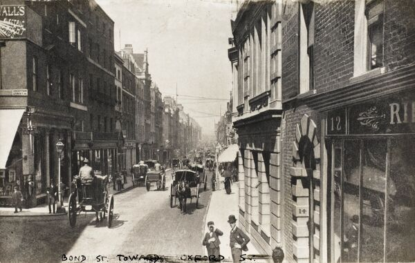 Old Bond Street (close to the corner of Grafton Street) - looking north toward Oxford Street