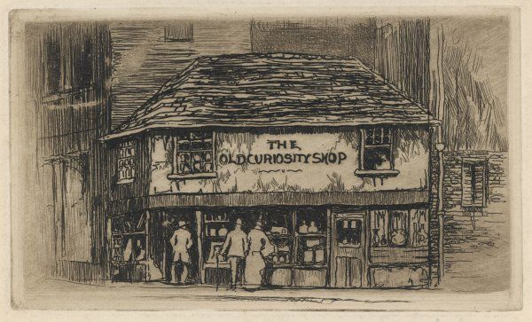 The original shop in Portsmouth Street, Kingsway, immortalised by Charles Dickens in his novel of the same name