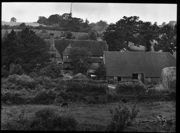 View of an old farmhouse at Bassett's Mill in the village of Cowden, near Edenbridge, Kent