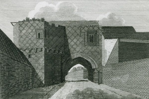 The gateway of King John's Palace at Old Ford, London Date: 1793