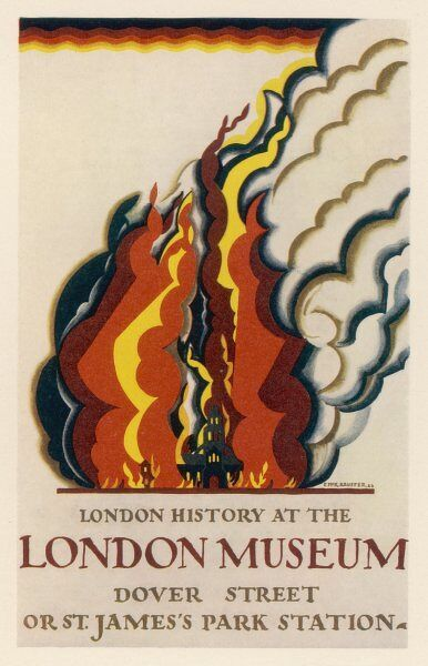 Poster advertising the old London Museum in Dover Street, Mayfair