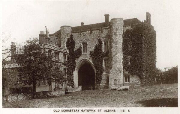 The Old Monastery Gate - St Albans, now part of St Albans Boys School Date: circa 1930s