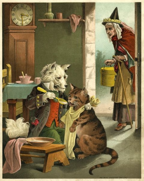 She went to the hatter's to buy him a hat, but when she came back he was feeding the cat. Date