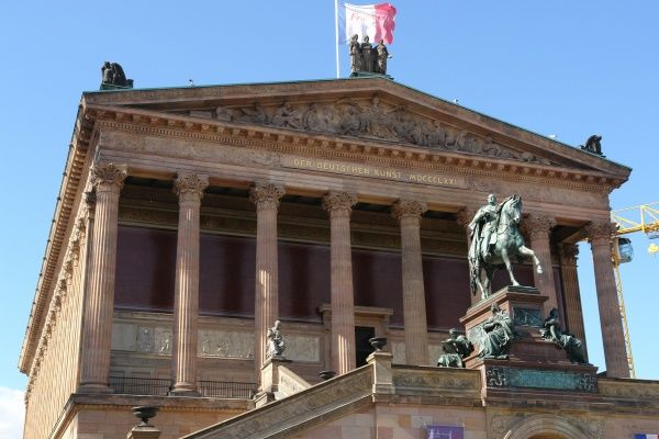 The Old National Gallery (Alte Nationalgalerie) on Museum Island, Berlin, Germany