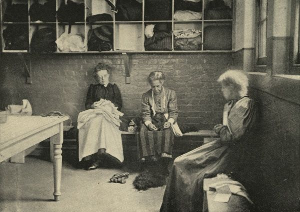 The women's casual ward (vagrants' ward) of a workhouse, thought to be at Lambeth, south London