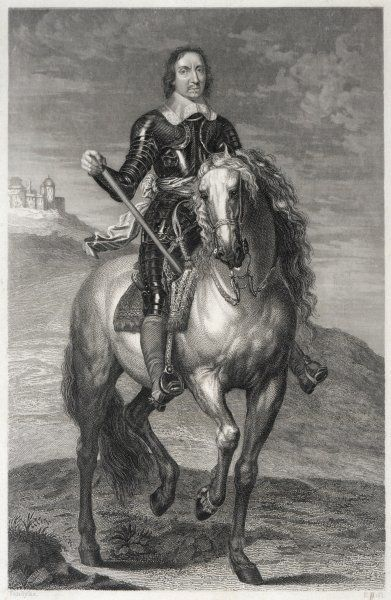 OLIVER CROMWELL soldier, statesman, The Protector On a horse