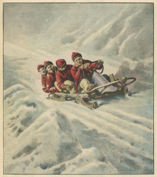 Champion American bobsleigh team, nicknamed the Red Devils