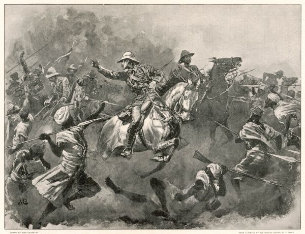 BATTLE OF OMDURMAN : the charge of the Lancers