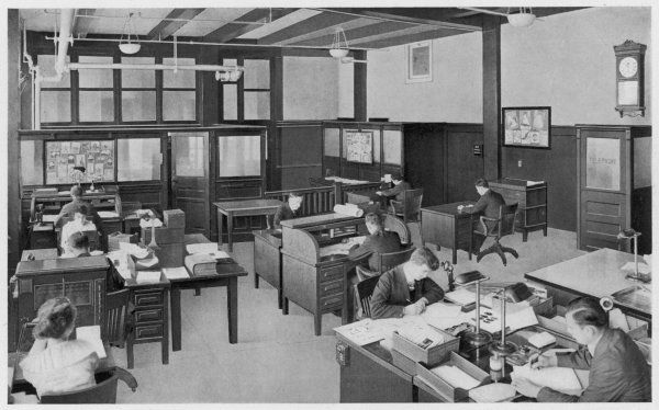 'The office of the Zeese- Wilkinson Company has been installed and arranged with every consideration for labor saving and efficiency.&#39