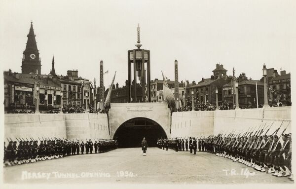 Opening of the Mersey Tunnel - Liverpool Date: 1934