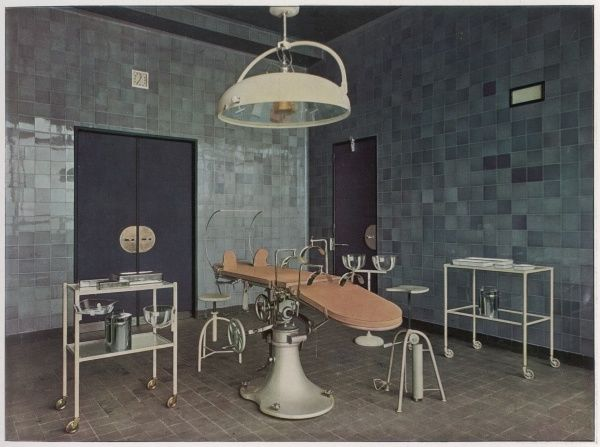 Thirties style operating theatre at the Beaujon Hospital