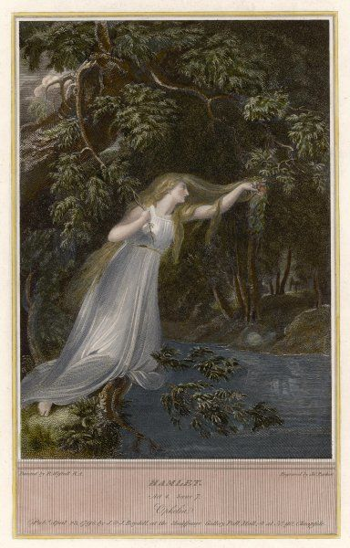 Ophelia plunges into the brook (Shakespeare, 'Hamlet')