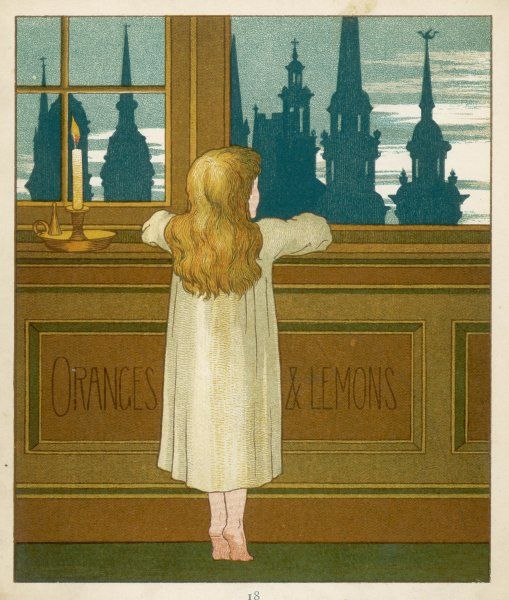 'Oranges and lemons, say the bells of St Clement's...' - a girl looks out at the spires of London's churches