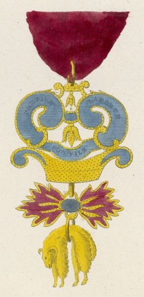 The Order of the Golden Fleece (Toison d'or), originally a Burgundian order, but adopted by the Austrian Empire when they adopted Burgundy