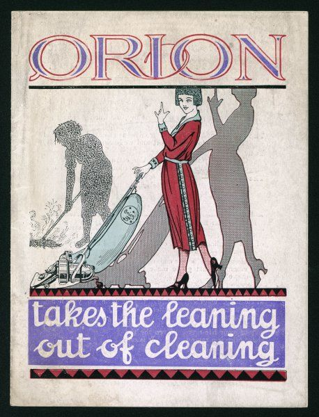 The ORION takes the leaning out of cleaning - has no revolving brush to wear away the surface by friction - and it costs only Nine Guineas !