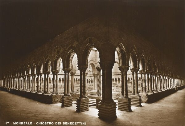 A superb photograph of the Norman Cloister at the Cathedral of Monreale, Sicily