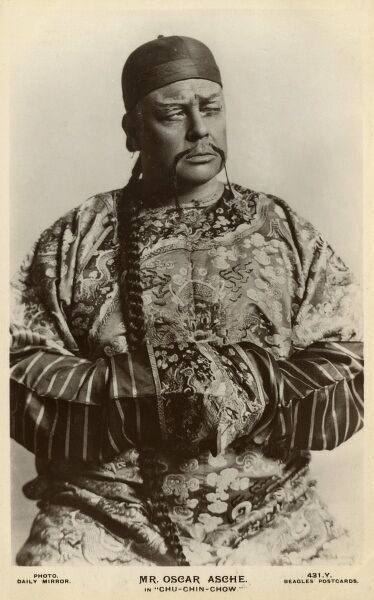 Mr Oscar Asche in the lead role of Abu Hasan in 'Chu Chin Chow' - a musical comedy based on the story of Ali Baba and the 40 Thieves he wrote, produced and also directed! Date: circa 1919
