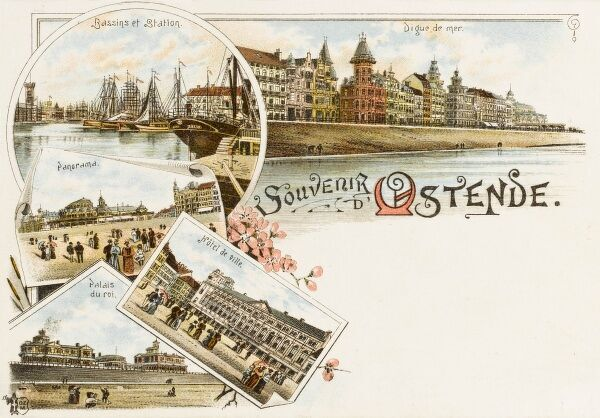 Souvenir postcard from Ostend, Belgium