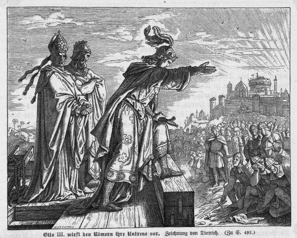 Emperor Otto III proposes to make Rome the imperial capitol
