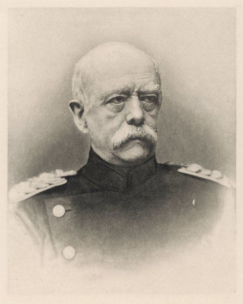 OTTO EDUARD LEOPOLD VON BISMARCK Prussian statesman and first chancellor of the German Empire