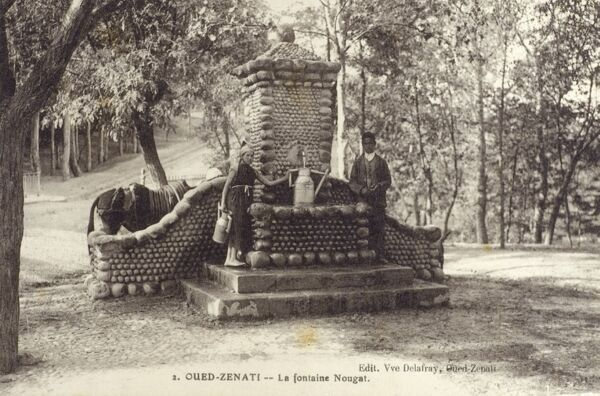Oued-Zenati - The Nougat Fountain. Oued Zenati is a town and commune in Guelma Province, Algeria with plentiful natural springs. Date: circa 1909