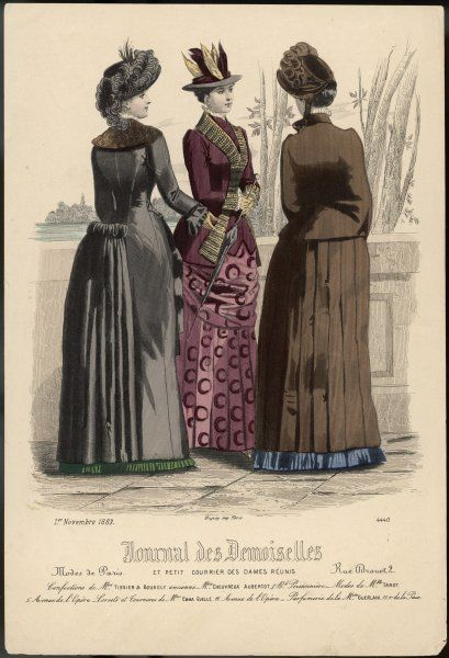 Three ladies dressed for an outdoor excursion