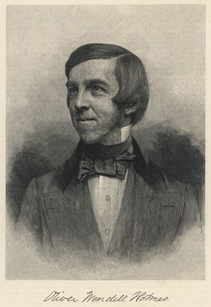 OLIVER WENDELL HOLMES American writer as a young man