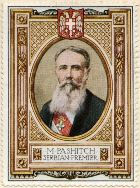 NIKOLA PASIC (PASHITCH or PACHITCH), (1845 - 1926) Notable Serbian and Yugoslav politician and diplomat