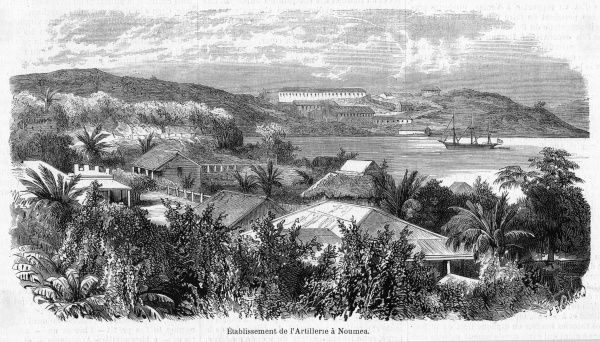 A French military establishment at Noumea, intended to ensure the natives behave themselves and treat their French masters with due respect