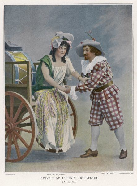 'I PAGLIACCI' De Nuovina as Nedda, Lubert as Canio in a Paris production