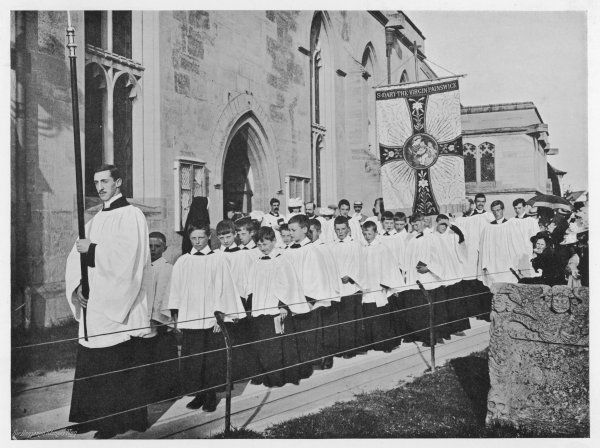 Painswick Clipping - the procession